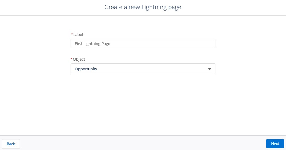 create a New Lightning page