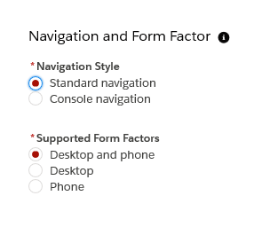 Navigation and Form Factors