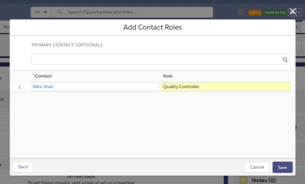 Add contact Roles or primary contact role