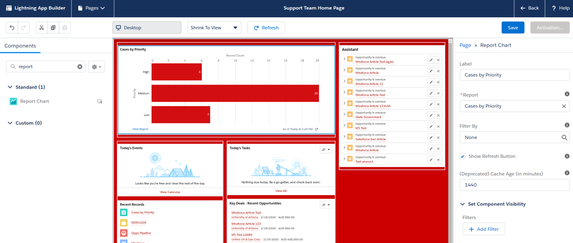Create a new Salesforce Lightning home page