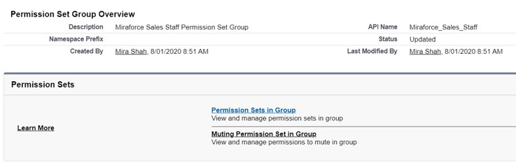 Permission Set group Overview