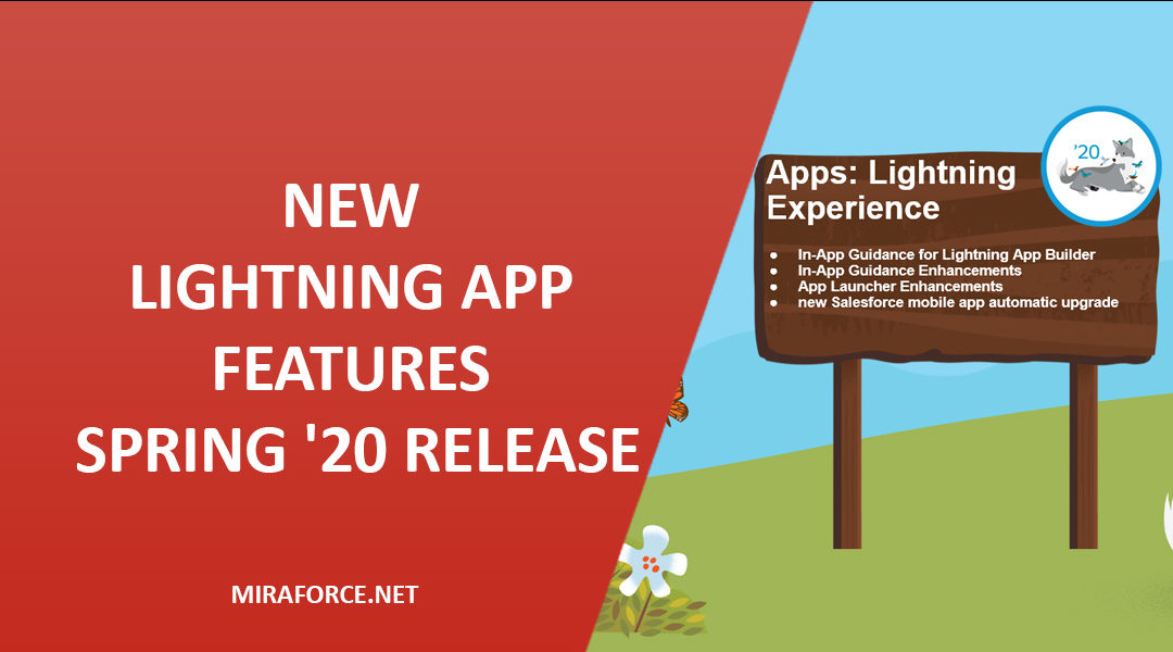New Lightning App Features Spring '20 Release