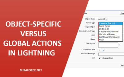 Object-Specific versus Global Actions in Lightning