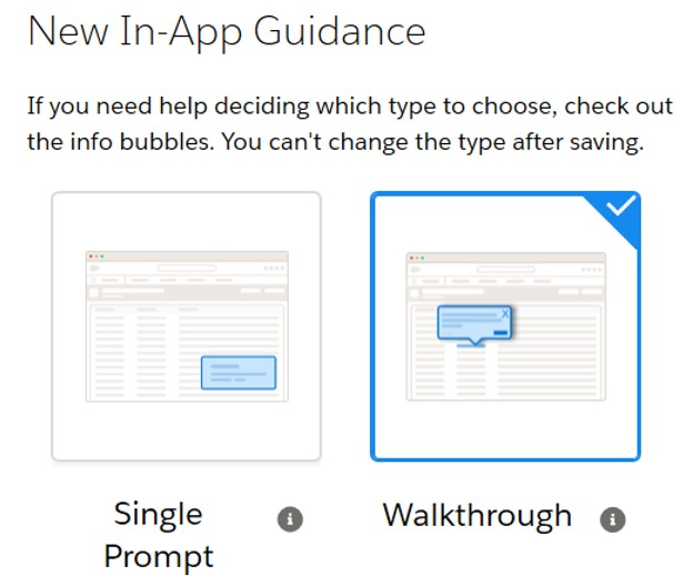 In-App Guidance Walkthrough