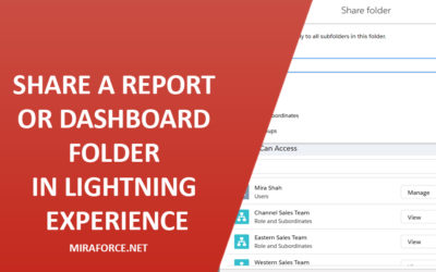 Share a Report or Dashboard Folder in Lightning Experience